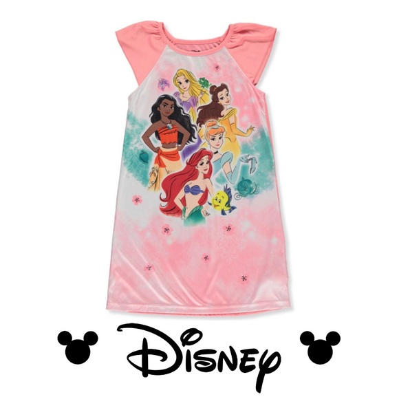 ⛔️SOLD⛔️ Disney Princess Nightgown Moana Ariel Belle NWT